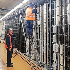Переключение кабелей связи в рамках проекта