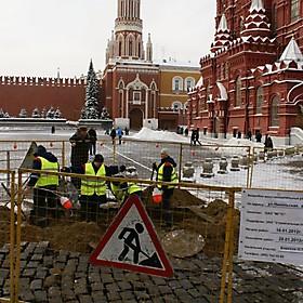 Работы на Красной площади