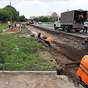 Строительство Южной рокады, Москва 2020г